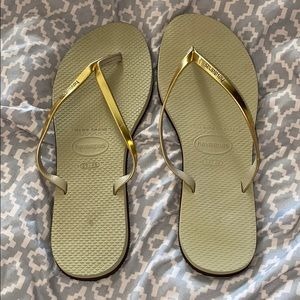 HAVAIANAS gold new